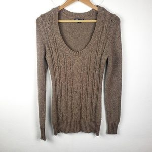 Gap | Brown Pullover Wool Cableknit Sweater Medium